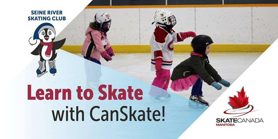 Image of children skating. Caption: Learn to Skate with CanSkate